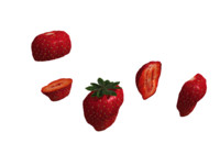 large strawberry cut variations 3d model
