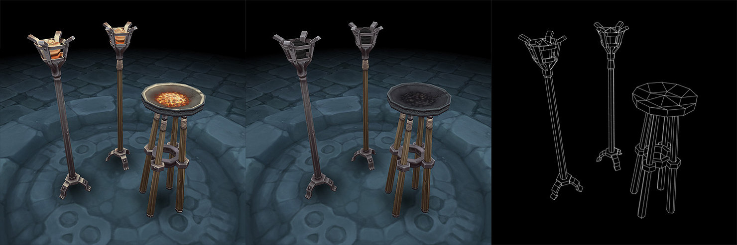 ma dungeon torch lighting set