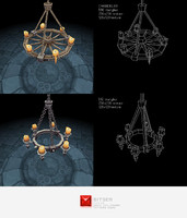 3d chandelier lighting set