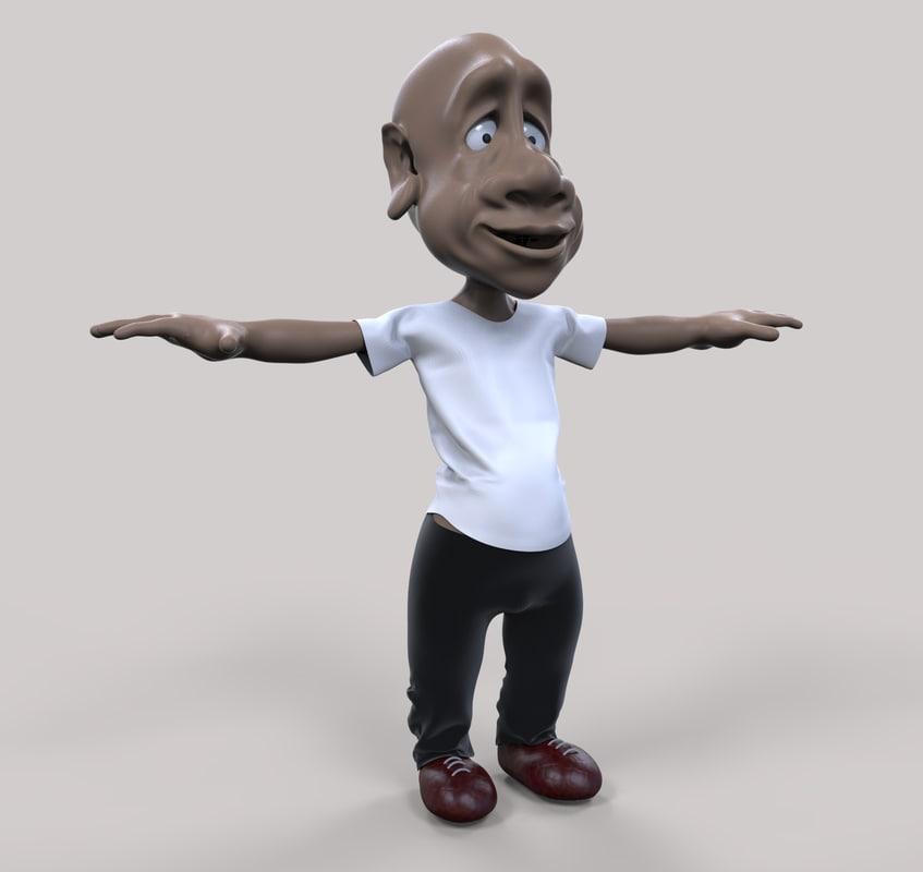 character man 3d obj