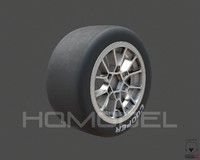 indy light tire rim 3d max