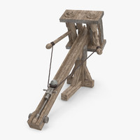 3d ancient roman ballista model