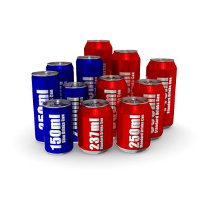 3d 3ds drinks cans - complete
