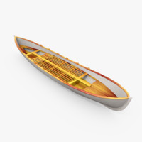 3d model classic lifeboat navy