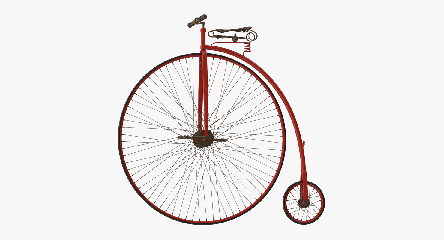 penny farthing bicycle 3d max