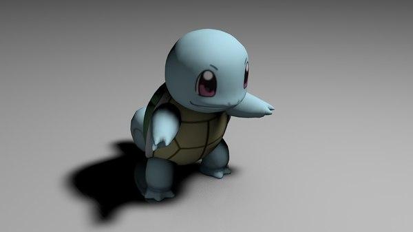 squirtle pokemon c4d