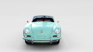 3d model porsche 356 convertible