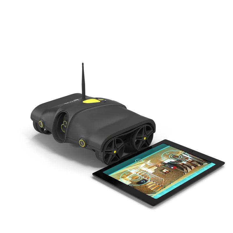 3d model wifi controlled video tank