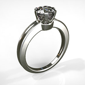 solitaire ring diamond 3d model