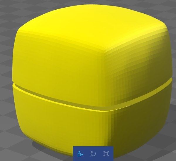 smoothed cube 3d model
