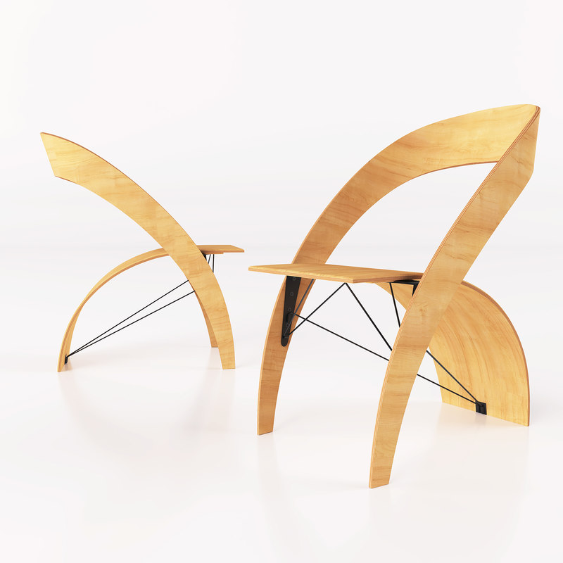 3d model stool interior