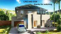free modern house 3d model