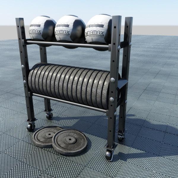 3d rack balls weight model