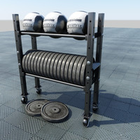 3d rack balls weight model