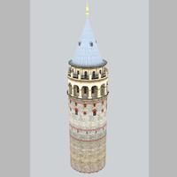 galata tower 3d max