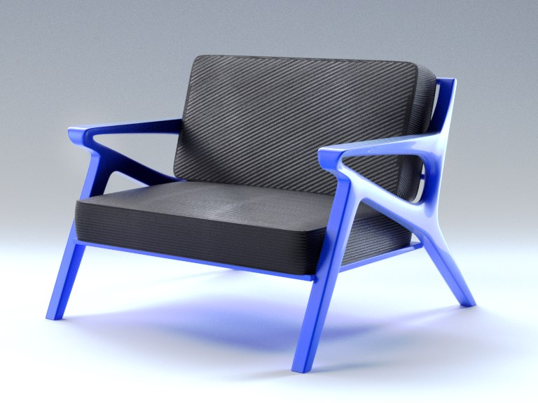 3d model generic modern chair