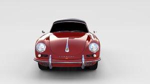 3d porsche 356 model