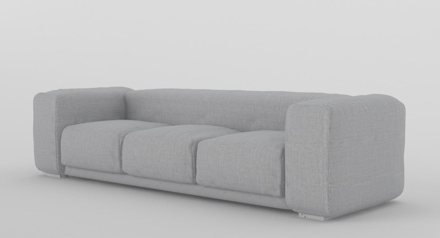 large sofa 3d model