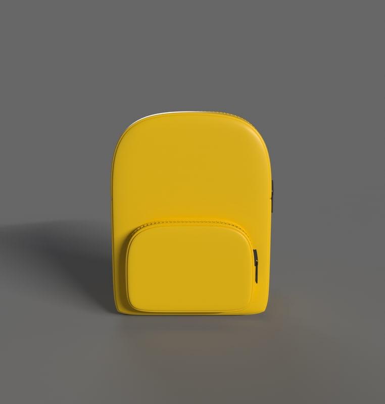 stylized backpack 3d obj