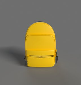 obj stylized backpack