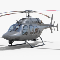 bell 429 navy 3d model