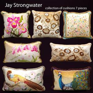 3d model pillow set