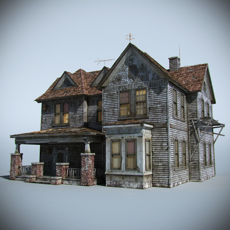 old farm house interior 3d model