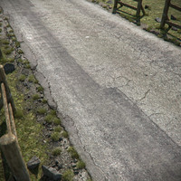 3d cracked asphalt road