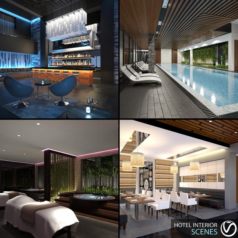 hotel interior scenes 1 3d max