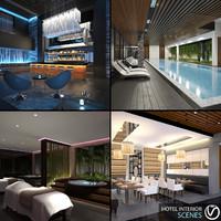 Hotel Interior Scenes (4 in 1)