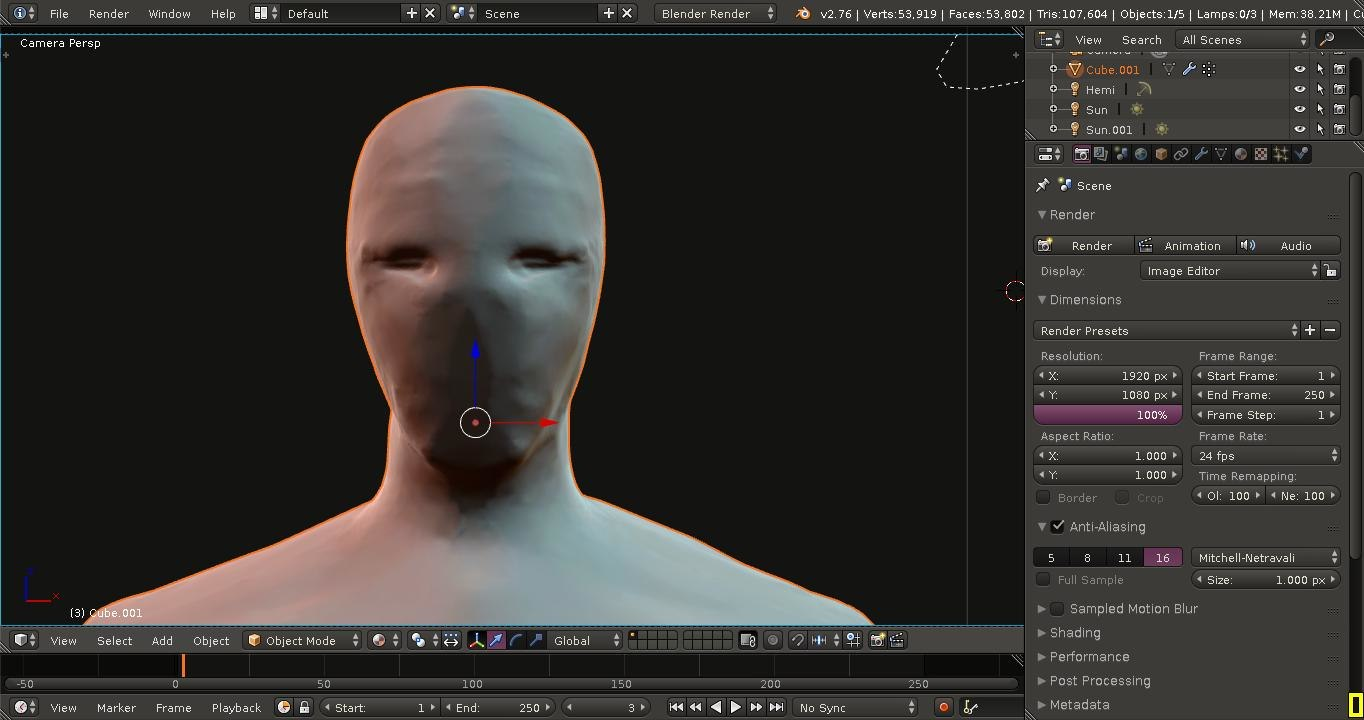 3d face faceless