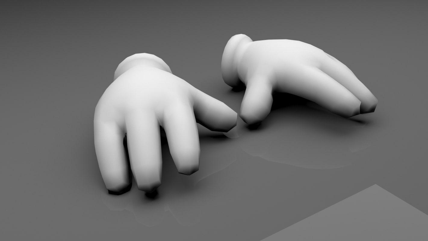 cartoon hand 3d fbx