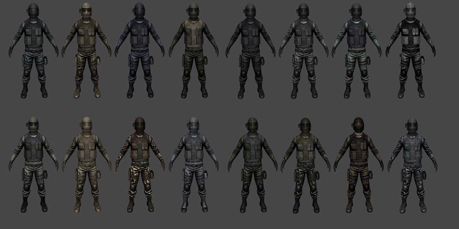 3d customizable soldier