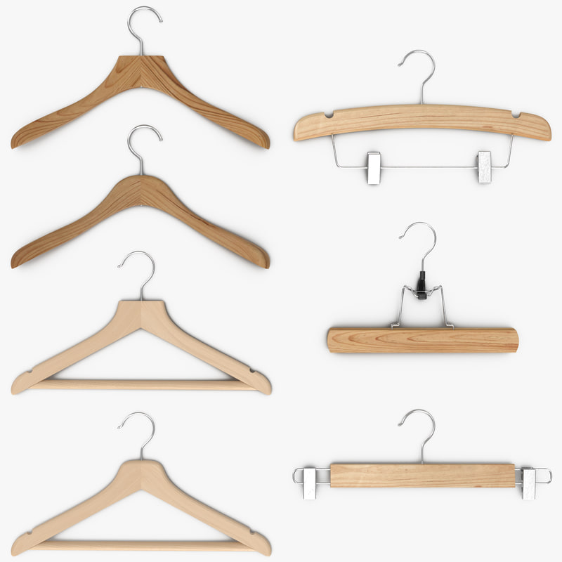3d model hanger clothes