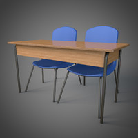 schooldesk school chairs c4d