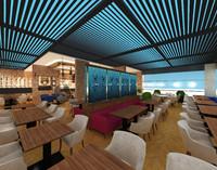 3d hookah cafe restaurant