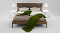 ipanema bed karman ceramic 3d c4d