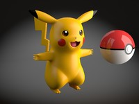Pikachu Pokemon rigged