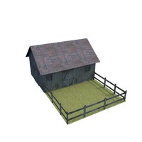 farm house 3d obj