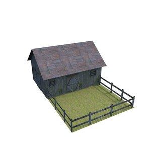 farm house 3d obj