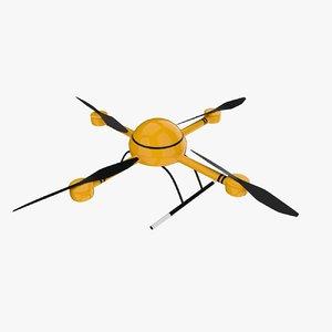 drone quadrocopter 3d model