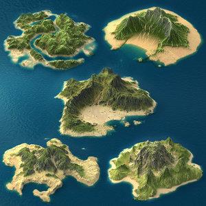 3d realistic tropical island