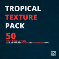 Tropical texture pack [50 seamless textures + Normal/Displacement maps]