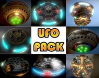 ufo pack 3d model