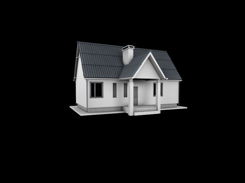 free house real world 3d model