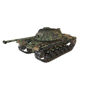 3d model of tank m48 patton