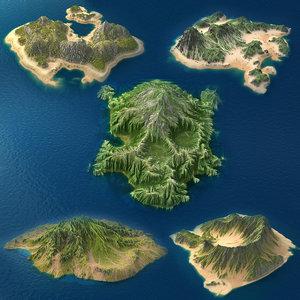 3d realistic tropical island 2 model