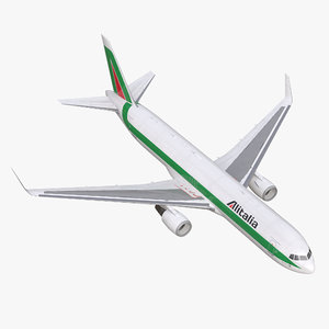 3d model of boeing 767 300f alitalia