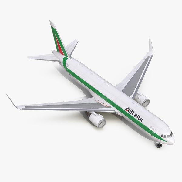 boeing 767-300f alitalia 3d max