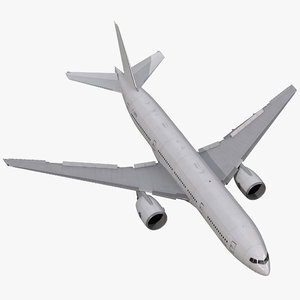 3d model of boeing 777-200 generic rigged